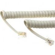 Cordão Espiral p/ Monofone 5m Branco - Dantas Telecom