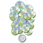 """JW.org Pinback Buttons with """"The Best Life Ever"""" - pack of 20"""