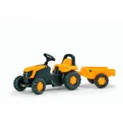 Rolly Toys 12619 - Veicolo a Pedali Kid JCB con Rimorchio