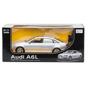 Coche modelo del coche del vehículo, accionado por control remoto del coche de Audi A6L 1:14 incluyendo el control remoto - SILVER