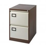 Filing Cabinet 2 Drawer Coffee/Cream