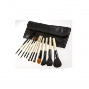 MULBA 12 Pcs Make Up Tools Professional Superior Soft Cosmetic Makeup Brush Set Pouch Bag Case