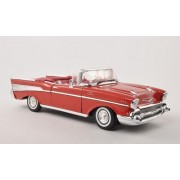 Chevrolet Bel Air Convertible, red , 1957, Modellauto, Ready-made, Motormax 1:18