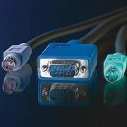 ROLINE 11.99.5456 :: KVM кабел, 1x HD15 M/M, 2x PS/2 M/M, 3C+4, 3.0 м
