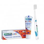 Periuta de dinti GUM Junior 7-9 Ani Ultra Soft Blue + Pasta de dinti GUM Junior 7-12 Ani 50ml