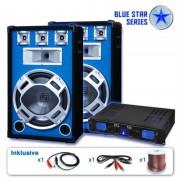 Skytronic Serie Blue Star Beatstar altavoz profesional altavoz pa 2000W LED azul