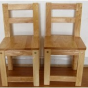 Qtoys Rubber Wood Standard Chair - Set of 2