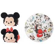Mickey Mouse and Friends ''Tsum Tsum'' Sketch Plate + Mini Plush Tsum Tsum Mickey & Minnie Mouse Set