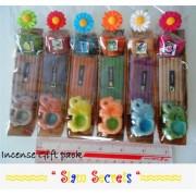 Real Incense gift pack Joss Sticks Cones Burner Pack of 6 sets