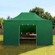 tendapro.it 3x4,5 m Gazebo Pieghevole con laterali, PREMIUM, verde scuro