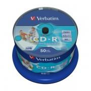 CD-R 52x FF Printable Verbatim AZO Tarrina 50 uds (no ID)