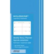 Moleskine Agenda Settimanale 12 Mesi - Copertina Rigida Turchese - Extra Small