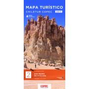 Wegenkaart - landkaart 2 Mapa turistico San Pedro de Atacama | Compass Chile