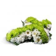 Interflora Cruz pequeña blanca y verde - Cruz Pequeña
