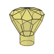 Lego Parts: Rock 1 x 1 Jewel 24 Facet (PACK of 2 - Transparent Green Jewels)