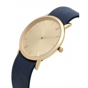 Analog Watch Classic Gold Plated Dial & Navy Strap Watch GN-CG