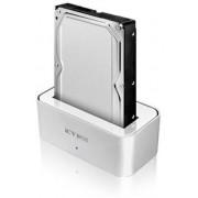 Carcasa statie andocare HDD de 2,5'' si 3,5'' SATA-1xUSB 2.0, 1xeSATA, aluminiu
