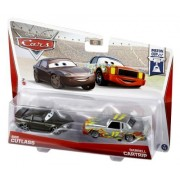 Disney/Pixar Cars, Piston Cup Die-Cast Vehicles, Bob Cutlass and Darrell Cartrip #3/18 & 4/18, 2-Pack, 1:55 Scale by Mattel