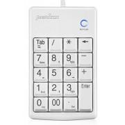 Perixx PERIPAD-201W, Numeric Keypad for Laptop - Compatible with Mac OS X & Windows - Tab Key Feature - Full Size 19 Keys - Big Print Letters - White