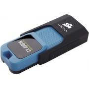 Stick USB Corsair Voyager Slider X2, 256GB, USB 3.0 (Negru/Albastru)