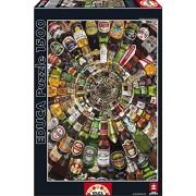 Educa - 14121 - Puzzle Classique - Spirale de Bières - 1500 Pièces