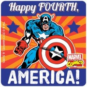 Captain America 4th Of July Stickers 75 Per Pack