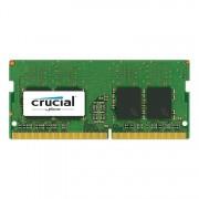 SODIMM, 16GB, DDR4, 2400MHz, Crucial, DR x8, Unbuffered, CL17 (CT16G4SFD824A)