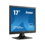 iiyama ProLite E1780SD-B1 17' LED LCD 1280x1024 speakers VGA DVI 250cd/m² 12M:1 ACR 5ms TCO6