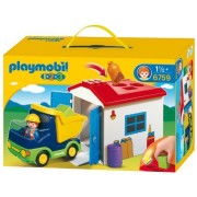 PLAYMOBIL 1.2.3 Truck with Garage by PLAYMOBIL [Toy] (English Manual)