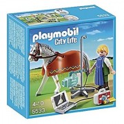PLAYMOBIL Horse with X-Ray Technician Building Kit