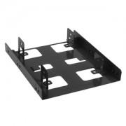 Adaptor Sharkoon de la 3.5 inch la 2x 2.5 inch HDD/SSD, culoare neagra