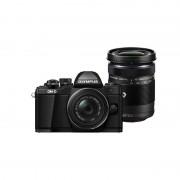 Aparat foto Mirrorless Olympus OM-D E-M10 Mark II 16 Mpx Black Kit EZ-M1442 II R si EZ-M4015 R