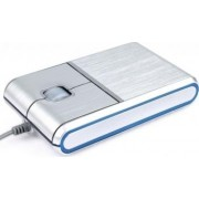Mouse Optic Modecom Aluminium MC-901 Silver Blue 800DPI USB