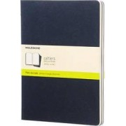 Moleskine Plain Cahier Xl - Navy Cover (3 Set) by Moleskine