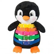 "Buckle Toy ""Blizzard"" Penguin Toddler Early Learning Basic Life Skills Childrens Plush Travel Activity"