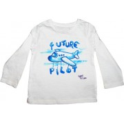 Tricou baieti pictat manual, 9-12 luni, Future pilot 2