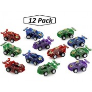 Friction PullBack Car Assortment -24 Pack 2.5 Inches Assorted Colors - Cool And Fun - Push And Go Cars - Toys