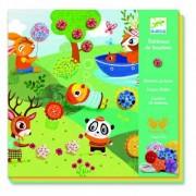 Joc creativ de cusut cu nasturi - Anotimpuri Djeco