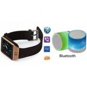 YSB Music Mini Bluetooth Speaker(S10 Speaker) And DZ09 Smart Watch for LG OPTIMUS L1 II TRI