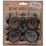 Weirdo Glasses - His and Hers - Party Funny Eyes Fancy Dress 70s Crazy Shades