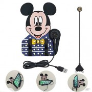 Armac Pomergranate Mickey Mouse Anti Slip Car Holder Charger Mat for Apple and Android Smartphones (2 in 1)