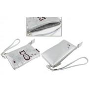 Animob A02-97SI hímzett mobiltelefon tok dupla 75 x 12 x 125mm - ezüst