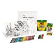 Crayola Color Escapes Coloring Pages & Pencil Kit National Parks Edition 12 Premium Pages 12 Watercolor Pencils 50 Colored Pencils Adult Coloring Art Activity Set