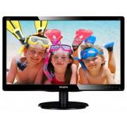 """Monitor PHILIPS LED 20"""" 200V4QSBR/00, VA panel, 1920x1080, 16:9, 8 ms, VGA, DVI-D, boxe 2 x 2.0W, Kensington Lock, VESA, Negru Glossy"""