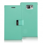 Korean Mercury Rich Diary Double Wallet Case for Samsung Galaxy S6 - Green