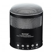Boxa portabila Wster WS-851, Bluetooth, Radio FM, USB, microSD, Handsfree, 600mAh, Black