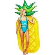 Pineapple FloatLetsFunny pool floats Inflatable Pineapple Tropical Summer Pool Floats For Adults Kids Outdoor Swimming Pool Large Floatie Lounge Party Toys Fruit Floaty Lounger Float