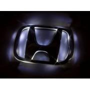 Эмблема со светодиодной подсветкой Honda красного и белого цвета «100x122»