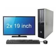 HP DC7800 C2D 4GB + 2x 19inch LCD
