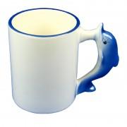 Cana personalizata cu toarta delfin